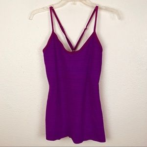 Beyond Yoga Strappy Tank Top Heathered Violet